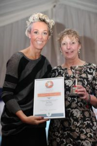 K511556 Sport Awards. Sport Tynedale Awards Hexham Courant Trophy for sports woman of the year went to Lynne Marr presented by Alison Curbishley.